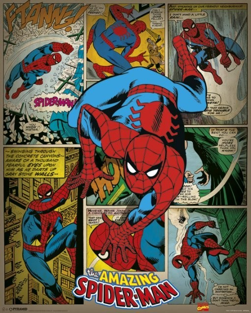 MARVEL COMICS – spider-man retro Plakat