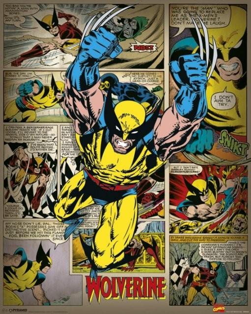 MARVEL COMICS – wolverine retro Plakat