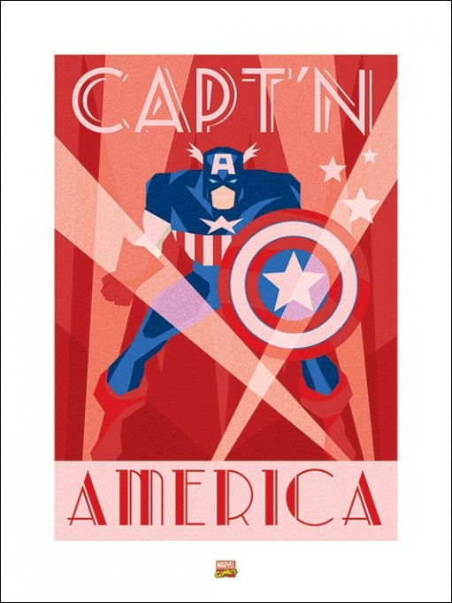 Marvel Deco - Captain America Kunsttryk