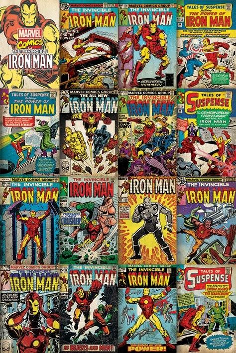 Marvel Iron Man Covers Plakat