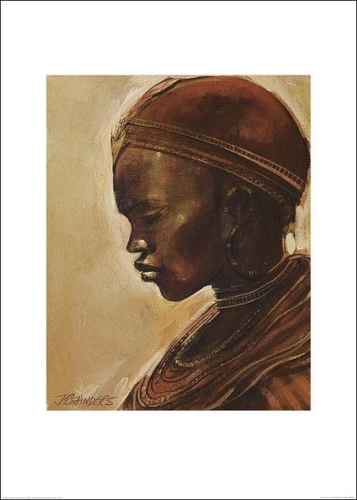 Masai woman II. Kunsttryk