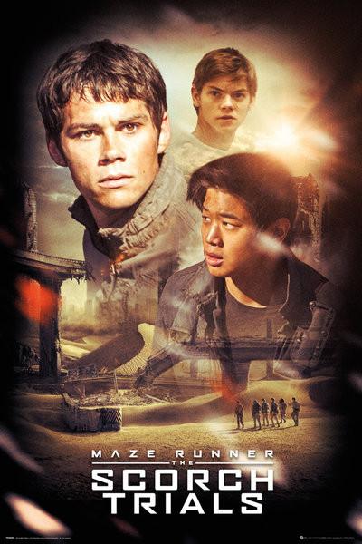 Maze Runner 2: Infernoet - Collage Plakat
