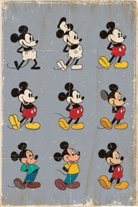MICKEY MOUSE - evolution Plakater