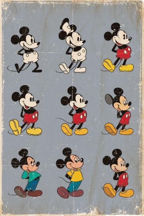 MICKEY MOUSE - evolution Plakat