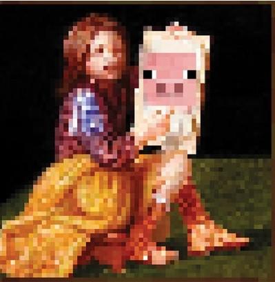 Minecraft - pig  Plakat