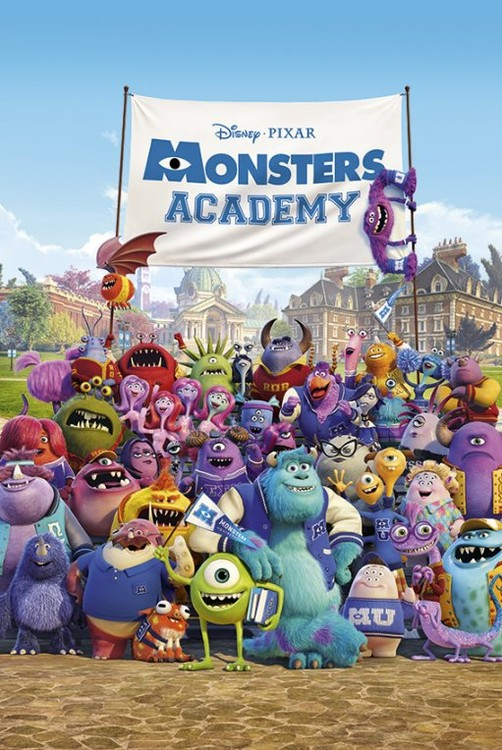 MONSTERS UNIVERSITY - academy  Plakat