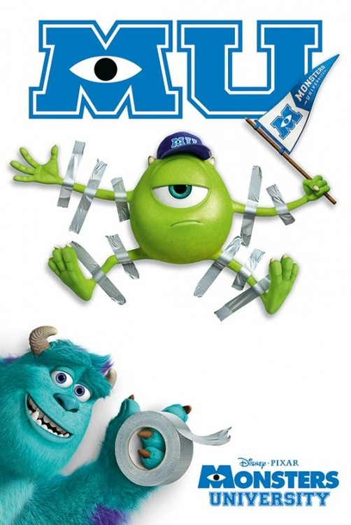MONSTERS UNIVERSITY - tape Plakat