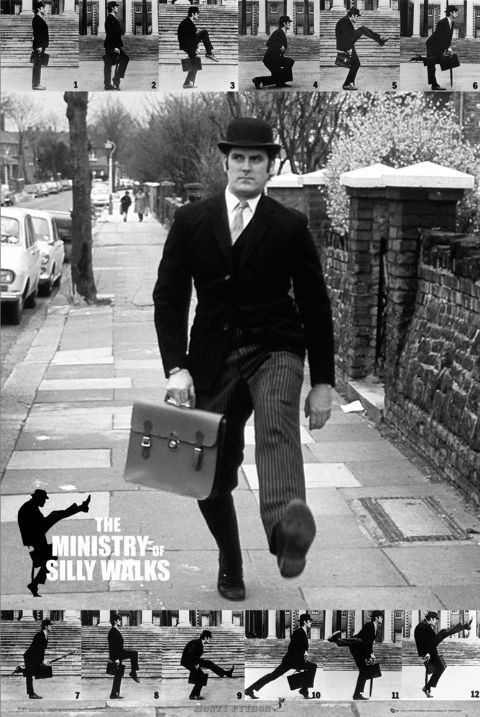 Plakat Monty Python - the ministry of silly walks