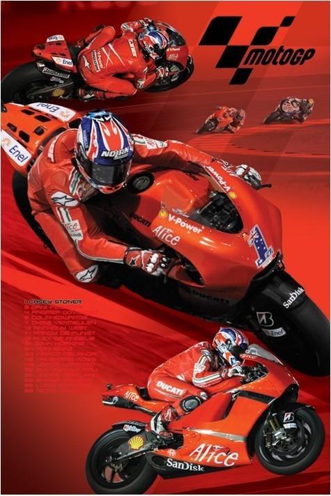 Moto GP - stoner Plakat