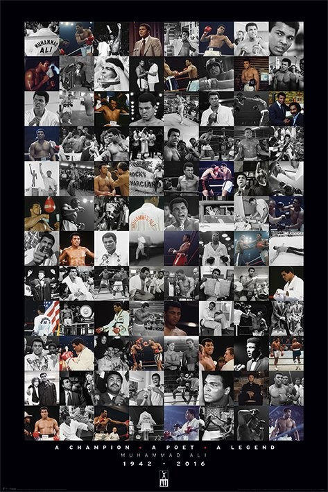 Muhammad Ali - Montage Plakat