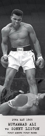 Muhammad Ali - vs. Sonny Liston Plakat