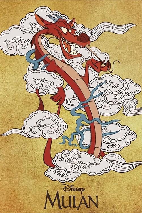 Mulan - Mushu Plakat