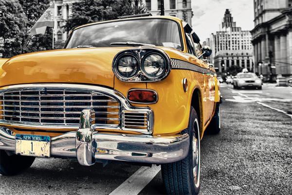 New York - Taxi Yellow cab No.1, Manhattan Plakat