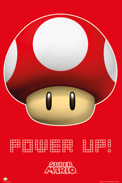 Nintendo - power up  Plakat