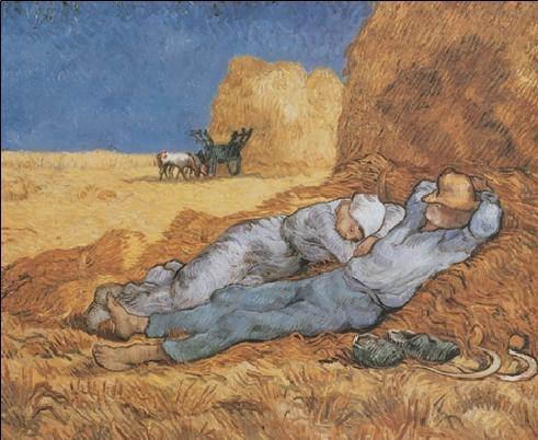 Noon: Rest from Work, 1890 Kunsttryk