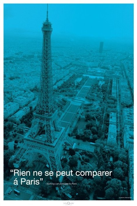 Paris - city quote Plakat