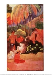 Paysage De Tahiti - Hory na Tahiti Kunsttryk
