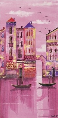 Pink Venice Kunsttryk