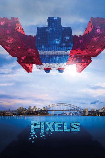 Pixels - Galaga Plakat