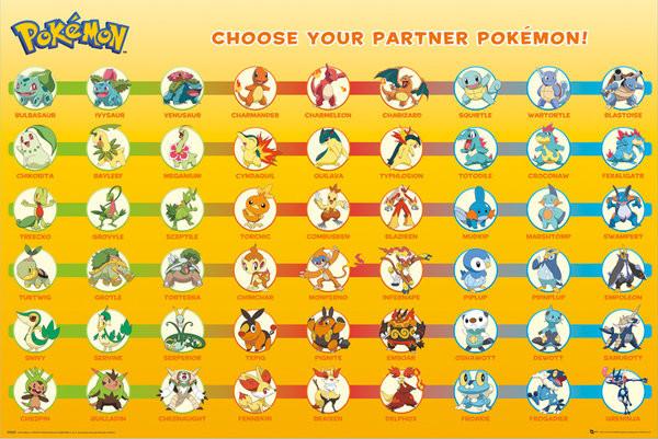 Pokémon - Partner Pokémon Plakat