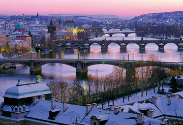 Prague – Prague bridges Plakat