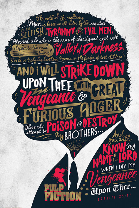 Pulp Fiction - Ezekiel 25:17 Plakat