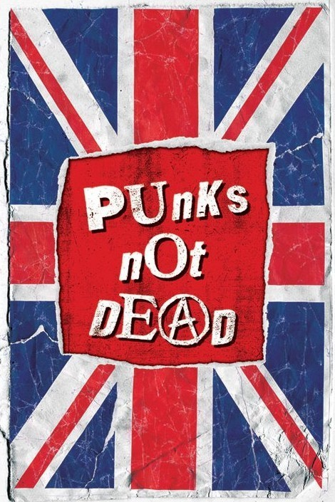 Punk not death Plakat