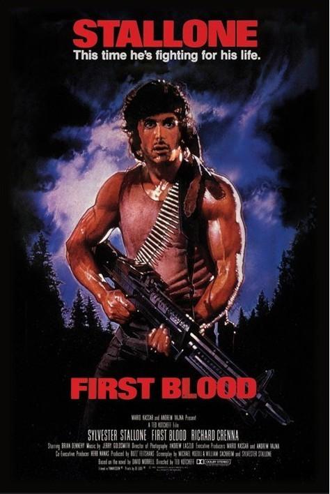 RAMBO - first blood Plakat