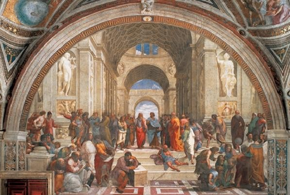 Raphael Sanzio - The School of Athens, 1509 Kunsttryk