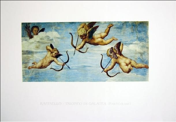 Raphael Sanzio - The Triumph of Galatea (part) Kunsttryk