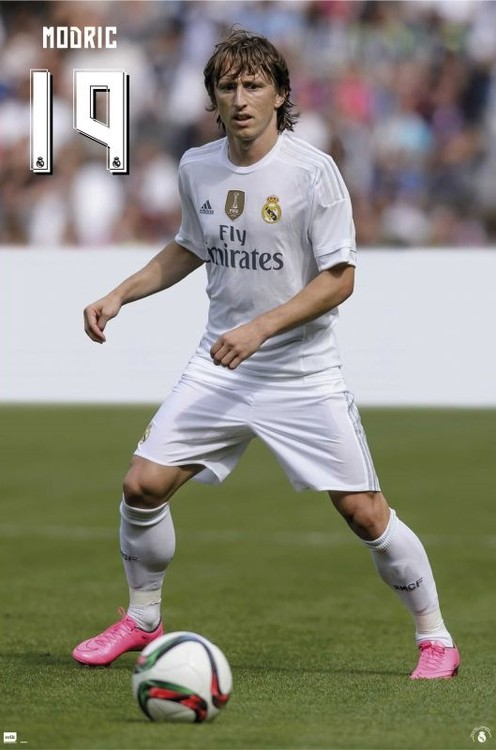 Real Madrid 2015/2016 - Modric accion Plakat
