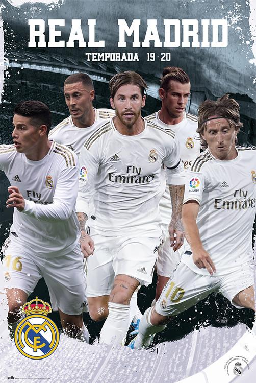 Real Madrid 20192020 Team Action Plakat, Poster på Europosters.dk