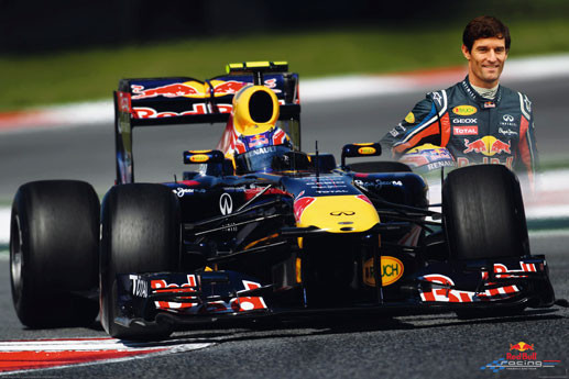 Red Bull racing - webber Plakat