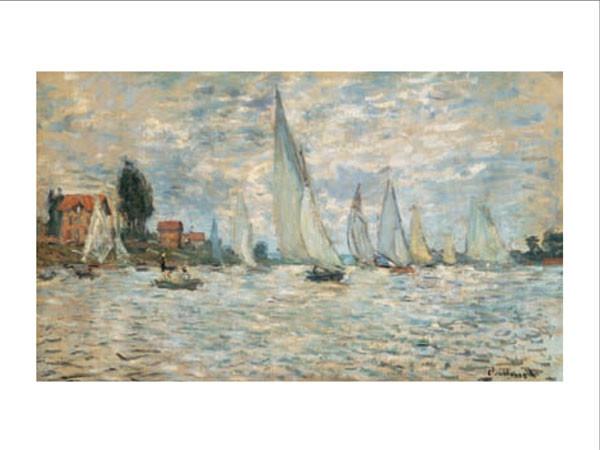 Regattas, Boats at Argenteuil, 1874 Kunsttryk