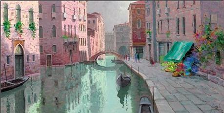 Rio di Santa Fosca, Venice Kunsttryk