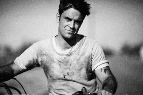 Robbie Williams - bike Plakat