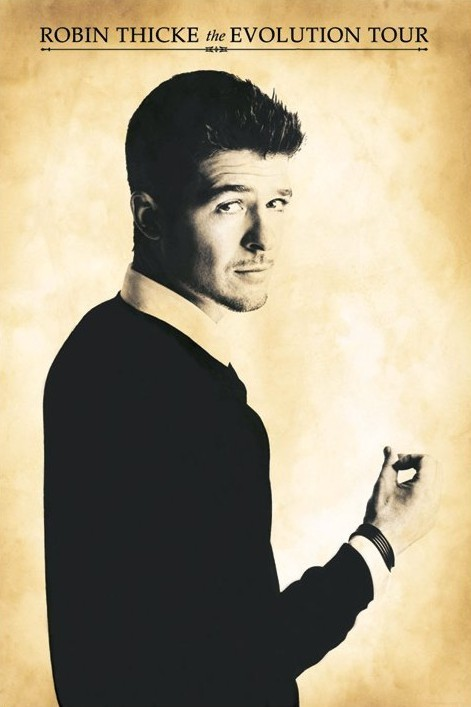 Robin Thicke - evolution tour Plakat