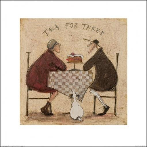 Sam Toft - Tea for Three 4 Kunsttryk