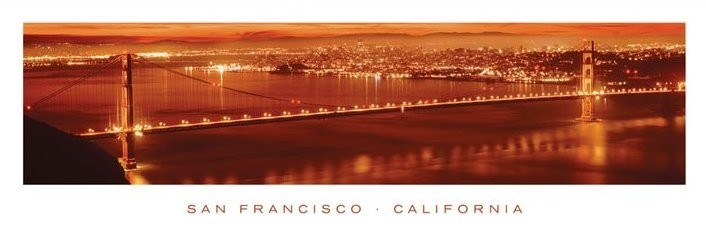 San Francisco - california Plakat