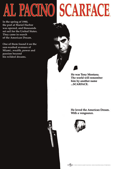 Scarface - movie Plakat