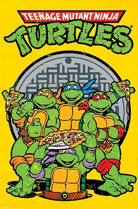 Skøre teenage ninja skildpadder - Retro Plakat