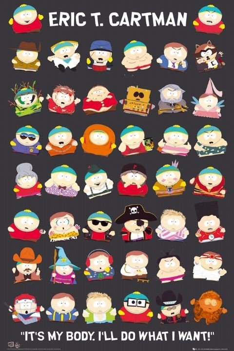 SOUTH PARK - cartman Plakat