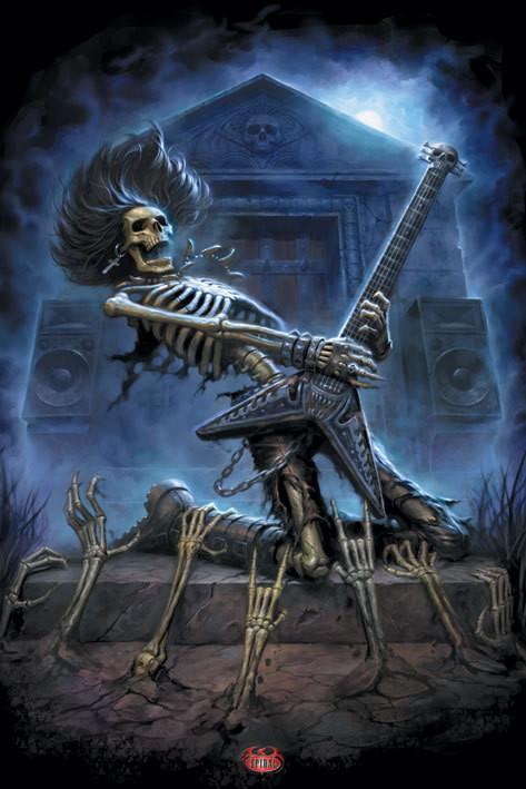 Spiral - death metal Plakat