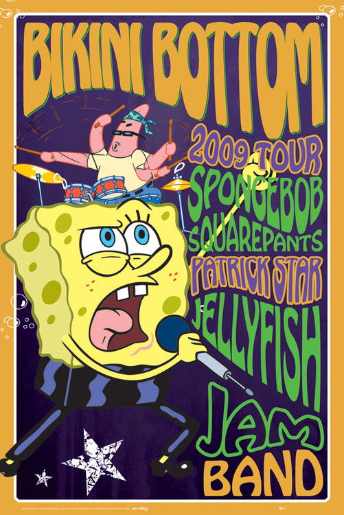 SPONGEBOB - rock Plakat