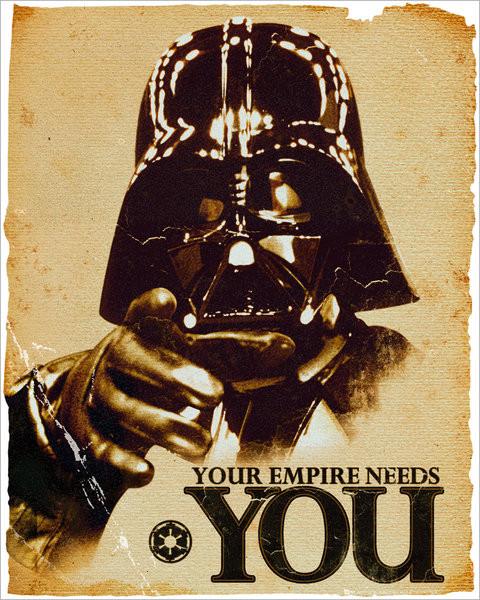 STAR WARS - empire Plakat