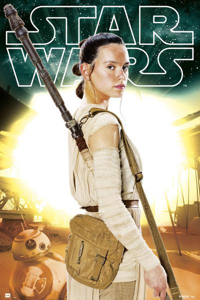 Star Wars Episode VII - Rey BB-8 Plakat