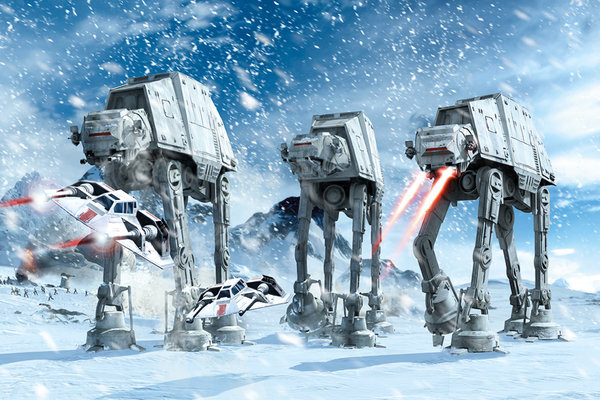 STAR WARS - hoth battle Plakat
