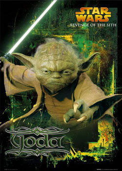STAR WARS - yoda Plakat