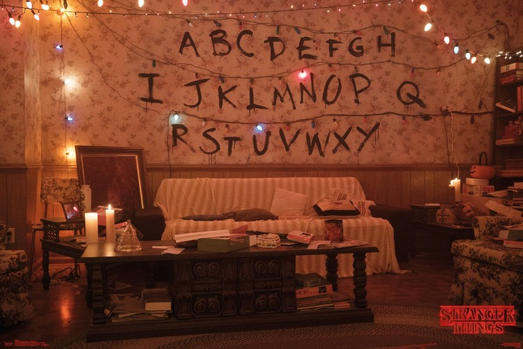 Stranger Things - Alphabet Plakat