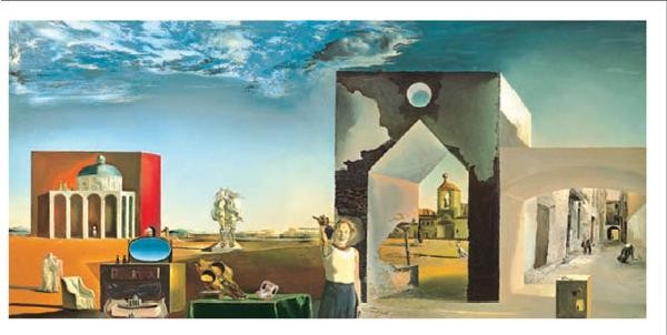 Suburbs of a Paranoiac Critical Town - Afternoon on the Outskirts of European History, 1936 Kunsttryk